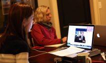 Skype interview for news program.